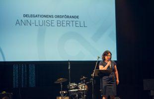 Festtal av delegationens ordförande Ann-Luise Bertell